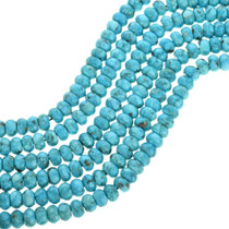 Genuine Kingman Turquoise Rondelle Beads 31904