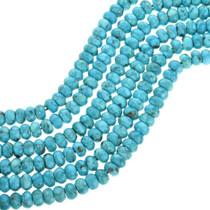 Genuine Kingman Turquoise Rondelle Beads 31904