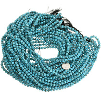 Senoran Blue Turquoise Round Bead Supply 31910