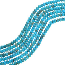 Natural Turquoise Rondelle Beads 31911