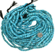 Blue Nugget Turquoise Heishi Untreated 31926