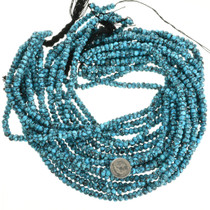 Genuine Spiderweb Turquoise Bead Strand 31927