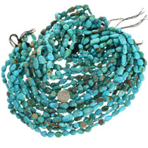 Southwest Arizona Turquoise Nuggets Bead Strand 31932