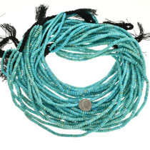 Turquoise Rondelle Beads Untreated 31939