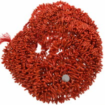Graduated Red Coral Branch Beads 31943