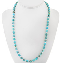 Natural Kingman Turquoise Bead Necklace 31888