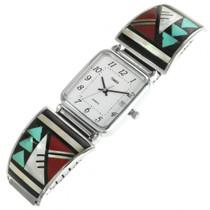 Vintage Zuni Turquoise Inlaid Watch 31890