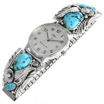 Vintage Navajo Turquoise Mens Watch 31894