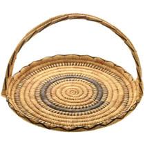 Rare Papago Indian Basket With Handle 32000