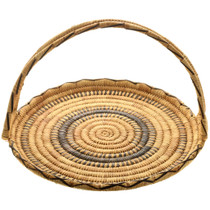 Rare Papago Indian Basket With Handle 32000