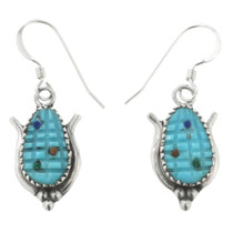 Zuni Carved Turquoise Earrings 32007