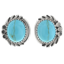 Turquoise Silver Post Earrings 32010