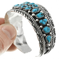Navajo Turquoise Cluster Bracelet 32014