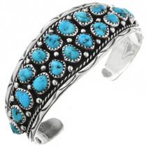 Navajo Turquoise Cluster Bracelet 32016