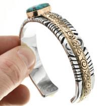 Navajo Gold Turquoise Bracelet 32021