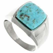 Turquoise Silver Navajo Ring 32024