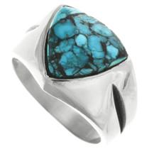 Navajo Spiderweb Turquoise Ring 32025