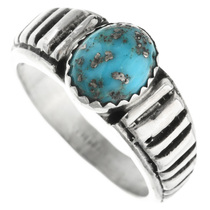 Navajo Turquoise Sterling Silver Ring 32030