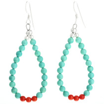 Navajo Beaded Loop Earrings 32036