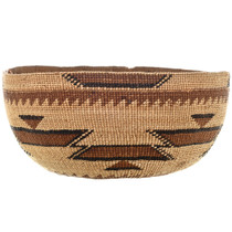 California Hupa Indian Basket Hat 32040