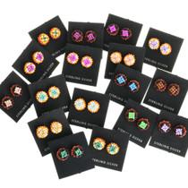 Colorful Navajo Earrings 32042