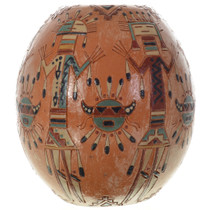 Navajo Sand Painting Pottery Vase 32056