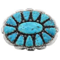 Zuni Turquoise Silver Belt Buckle 32059