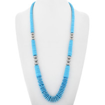 Navajo Turquoise Silver Necklace 32062