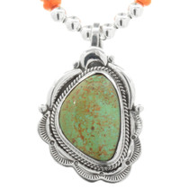 Green Turquoise Silver Pendant 32063