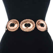 Black Leather Copper Belt 32065