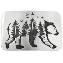 Navajo Walking Bear Belt Buckle 32074