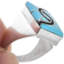 Turquoise Native American Mens Ring 32087