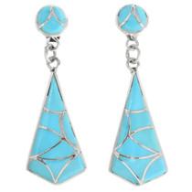 Zuni Turquoise Inlay Earrings 32096