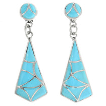 Zuni Turquoise Inlay Earrings 32096