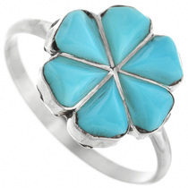Turquoise Flower Ring 32099