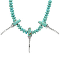 Hand Made Turquoise Beaded Necklace 32102