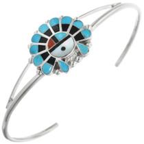 Zuni Turquoise Sunface Bracelet 32105