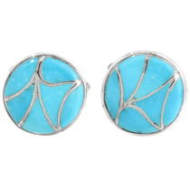 Turquoise Inlay Cuff Links 32106