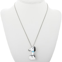 Inlay Snoopy Turquoise Pendant 32108