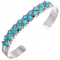 Turquoise Silver Zuni Bracelet 32112