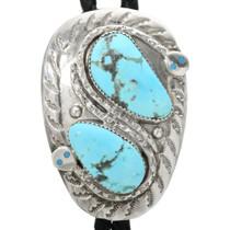 Zuni Turquoise Snake Bolo Tie 32131