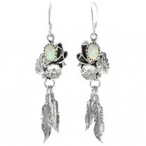 Opal Navajo Feather Earrings 32133