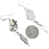 Sterling Silver Opal Earrings 32133