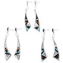 Turquoise Inlay Zuni Made Earrings 32138