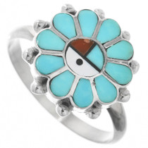Turquoise Sunface Ring 32140