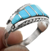 Zuni Turquoise Inlay Ring 32141