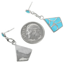 Zuni Turquoise Inlay Earrings 32145