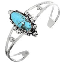 Navajo Turquoise Silver Bracelet 32153
