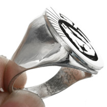 Silver Overlay Native American Ring 32156