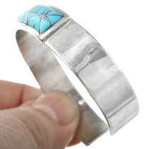 Sleeping Beauty Turquoise in Sterling Silver Cuff 32158